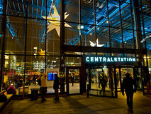 Station. Central Railway Station a dark, cold november evening Stock Photo