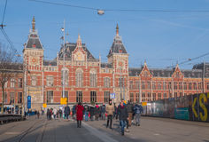 Station centrale Amsterdam Photo libre de droits