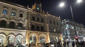 Station centrale de Rossio, ville de Lisbonne, l'Europe Image stock