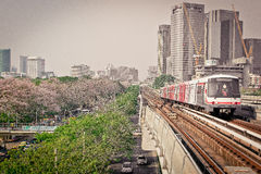 Station Chatuchak, Bangkok, Thaïlande de Mo Chit BTS Image libre de droits