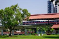 Station chinoise de MRT de jardin à Singapour photos stock