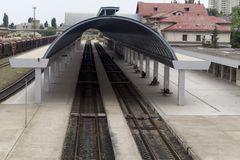 Station in Chisinau stock afbeeldingen