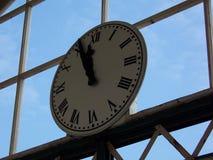 Station clock. At Llandudno, Wales Royalty Free Stock Photography
