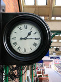 Station Clock. An old train station clock royalty free stock photography