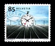 Station clock 1944 designed by Hans Hilfiker 1901-93, Swiss royalty free stock photos