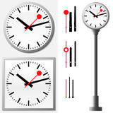 Station clock - wall clock Royalty Free Stock Photography