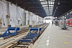 Station concourse in Wiesbaden under construction Royalty Free Stock Photography