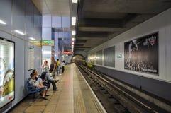 Station Cutty Sark DLR Lizenzfreie Stockfotos