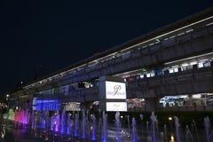 Station d'échange de Skytrain Siam Images stock