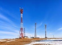 Station d'émetteur-récepteur basse de communication cellulaire Photographie stock