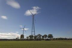 Station d'énergie éolienne, région de terre d'Osnabrueck, basse-saxe, Allemagne Photo libre de droits