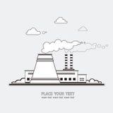 Station d'énergie La centrale nucléaire sur le fond du Images stock