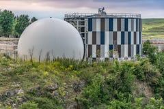 Station d'épuration moderne pour le traitement de l'eau et la purification de la même chose photographie stock
