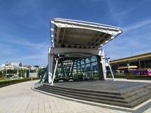 Station d'aéroport de MRT Songshan Images libres de droits