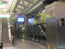 Station d'Airtrain d'aéroport de JFK à New York Photos stock