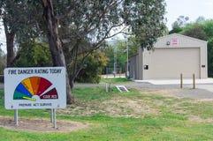 Station d'autorité du feu de pays en Buxton Images stock