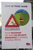 Station d'avertissement de Latour de Carol de connexion de sécurité image libre de droits