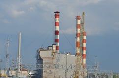 Station d'electropower de la chaleur Photographie stock