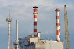 Station d'electropower de la chaleur Images stock