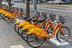 Station d'Ubike YouBike Ubike est un réseau de grande diffusion de bicyclette de location à Taïpeh photos stock