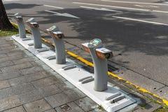 Station d'Ubike YouBike Ubike est un réseau de grande diffusion de bicyclette de location à Taïpeh photographie stock