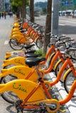 Station d'Ubike YouBike Ubike est un réseau de grande diffusion de bicyclette de location à Taïpeh image stock