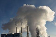 Station d'usine de puissance mise le feu par charbon au Wyoming Photo libre de droits