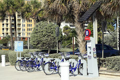 Station de B-cycle de Broward Images libres de droits