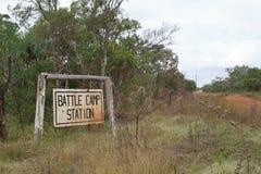 Station de camp de bataille Images stock