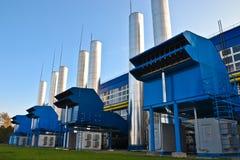 Station de canalisation de compresseur Images stock