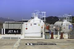 Station de carburant d'aviation Photographie stock
