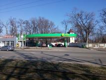 Station de carburant de MÉTÈQUE à Odessa Image libre de droits