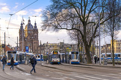 Station de Centraal amsterdam Photographie stock