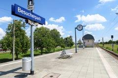 Station de centre de visiteur d'aéroport de Munich Photo stock