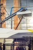Station de charge électrique d'autobus Image libre de droits