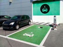 Station de charge de véhicule électrique Photo stock