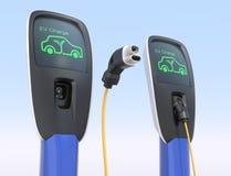Station de charge de voiture électrique Photographie stock