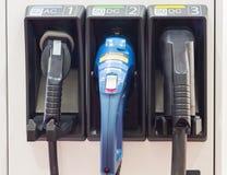 Station de charge pour les voitures électriques Photo stock