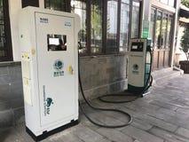 Station de charge de véhicule électrique dans la célébration la Floride Etats-Unis Etats-Unis Images stock
