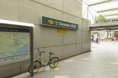 Station de Chinatown de souterrain de MRT de Singapour Photo libre de droits