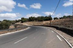 Station de colline d'Arta dans la vue de ville de Djibouti Images libres de droits