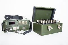 Station de communication militaire d'isolement sur le blanc Photos libres de droits