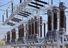 Station de courant électrique images stock