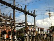 Station de courant électrique Photos stock