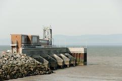 Station de croisement de ferry à St Simeon - Riviere-du-Loup - le Québec image libre de droits