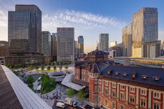 Station de district des affaires et de Tokyo de Marunouchi image libre de droits