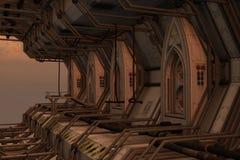 Station de dock de l'espace de la science fiction Photo libre de droits