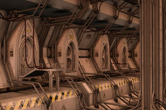 Station de dock de l'espace de la science fiction Photographie stock