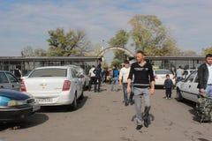 Station de fond de taxi à Tashkent Images libres de droits