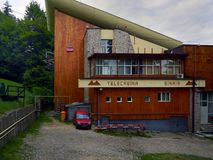 Station de funiculaire dans Sinaia, Roumanie photographie stock libre de droits